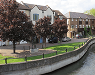 Terraced properties by the waterfront, Fordingbridge